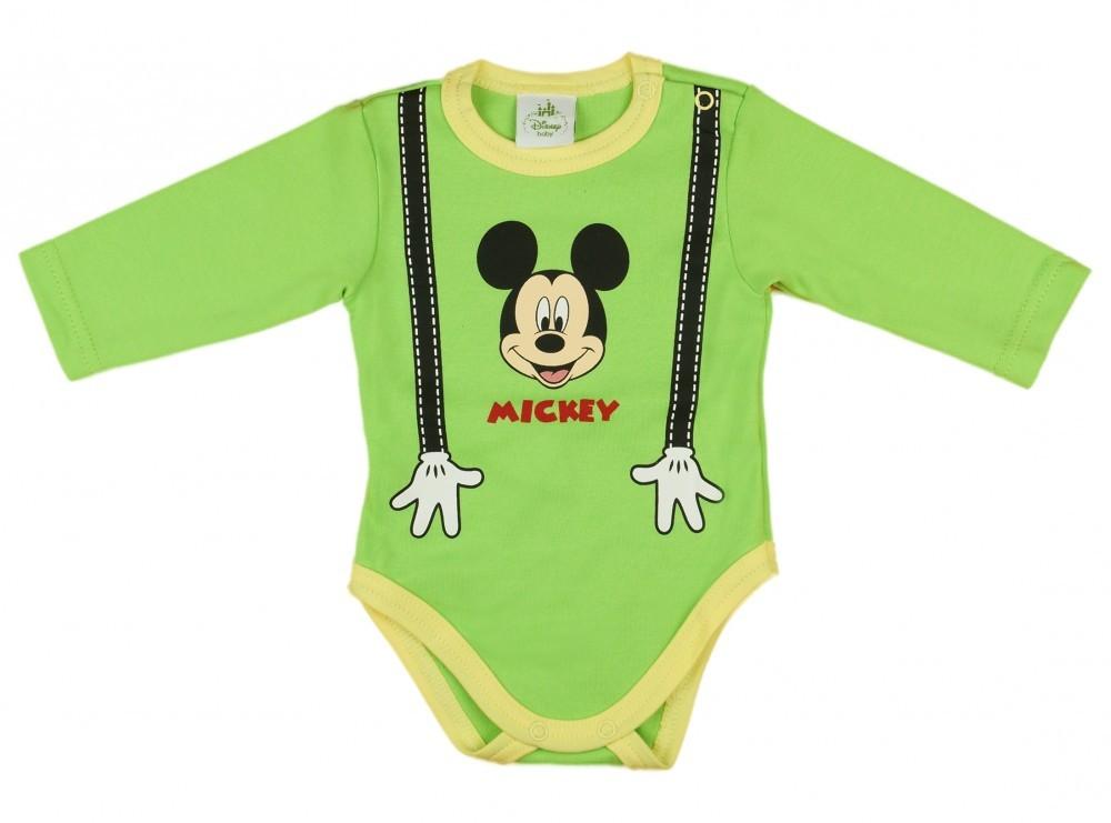 17415c2cf1 Disney Mickey hosszú ujjú vékony pamut kombidressz (méret: 62-80 ...