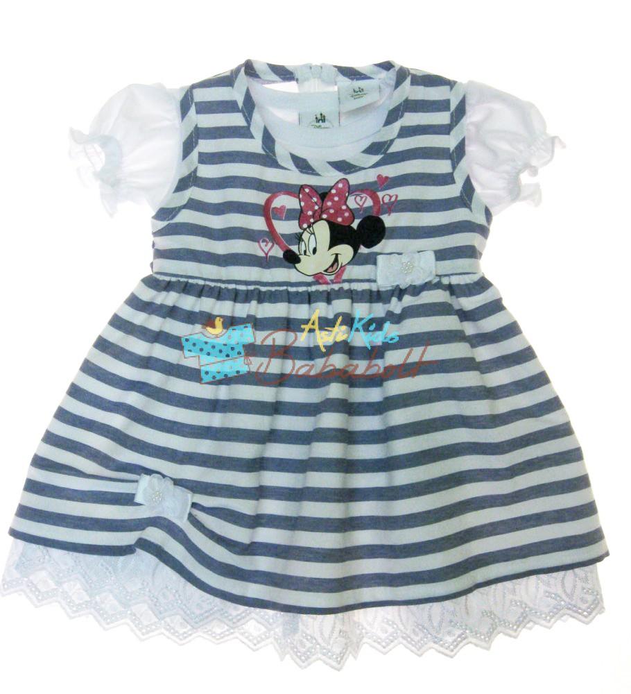 978f0d5aad Disney Minnie csíkos ruha+ fodros ujjú póló (méret:74-104) - Ruha ...