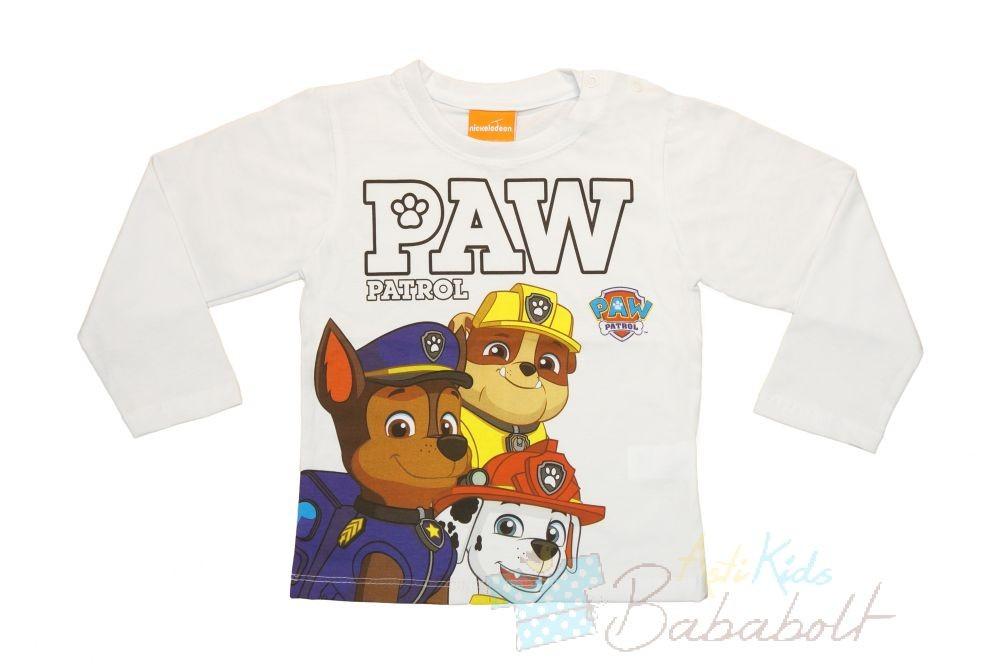 Paw Patrol - Mancs őrjárat baba gyerek hosszú ujjú póló (méret  80-122) 94cc65560e